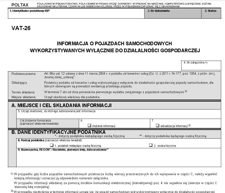 Informacja VAT-26